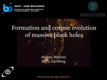 Formation and cosmic evolution of massive black holes