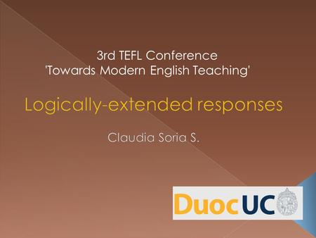 3rd TEFL Conference 'Towards Modern English Teaching'