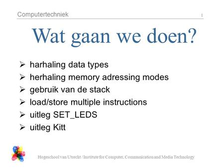 Wat gaan we doen? harhaling data types