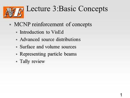 Lecture 3:Basic Concepts