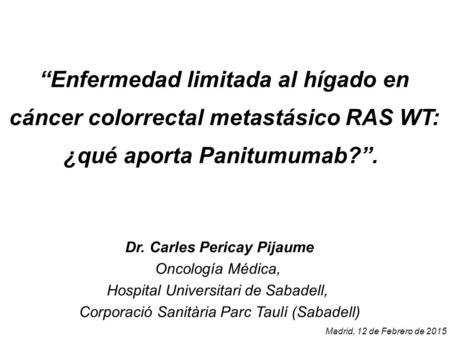 Dr. Carles Pericay Pijaume