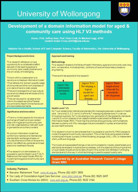 Project Background & Aims This research reflects an unique opportunity for a collaborative effort between three leading aged and community care industry.