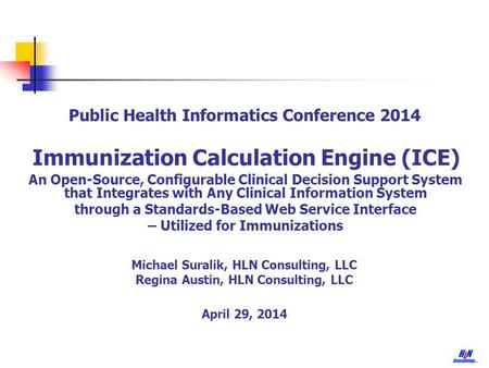 Immunization Calculation Engine (ICE)