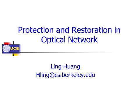 Protection and Restoration in Optical Network