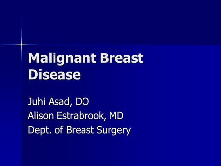 Malignant Breast Disease
