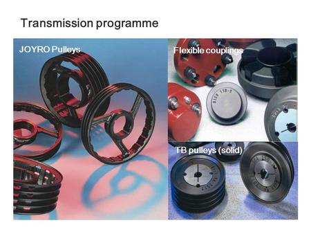Transmission programme JOYRO Pulleys Flexible couplings TB pulleys (solid)