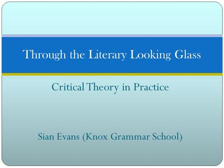 Through the Literary Looking Glass