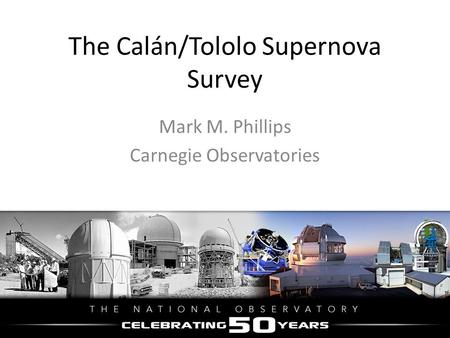 The Calán/Tololo Supernova Survey
