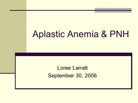 Loree Larratt September 30, 2006