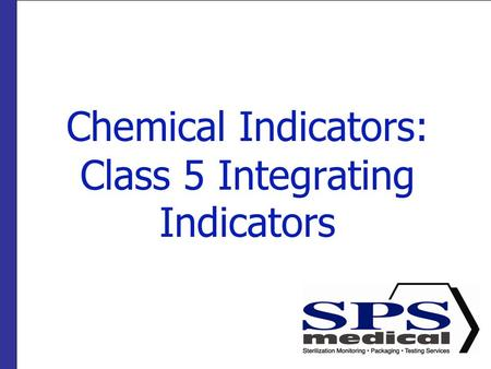 Chemical Indicators: Class 5 Integrating Indicators