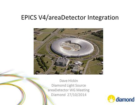 EPICS V4/areaDetector Integration Dave Hickin Diamond Light Source areaDetector WG Meeting Diamond 27/10/2014.