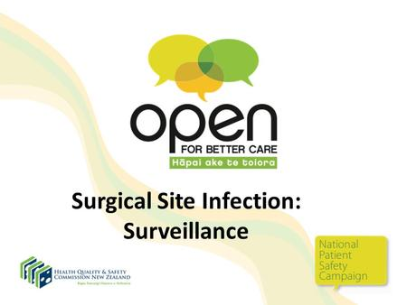 Surgical Site Infection: Surveillance