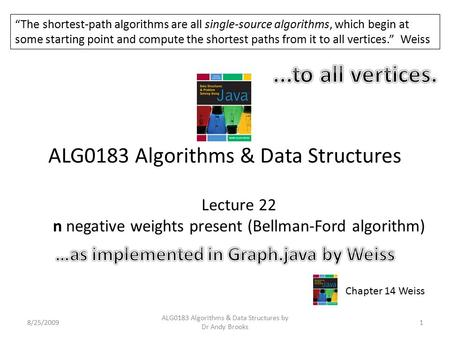 ALG0183 Algorithms & Data Structures
