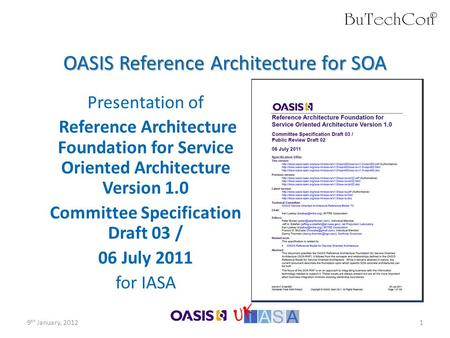 OASIS Reference Architecture for SOA