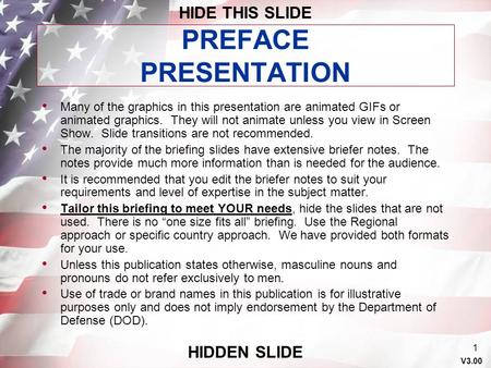 PREFACE PRESENTATION HIDE THIS SLIDE HIDDEN SLIDE