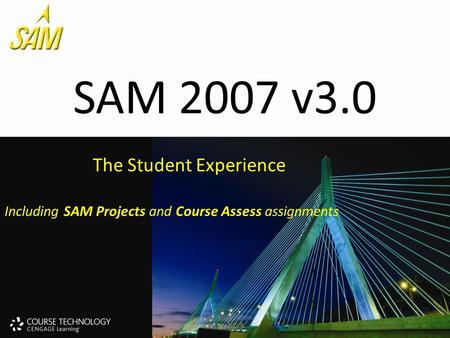 SAM 2007 v3.0 The Student Experience Including SAM Projects and Course Assess assignments.