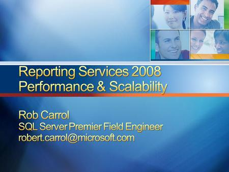SSRS 2008 Architecture Improvements Scale-out SSRS 2008 Report Engine Scalability Improvements.