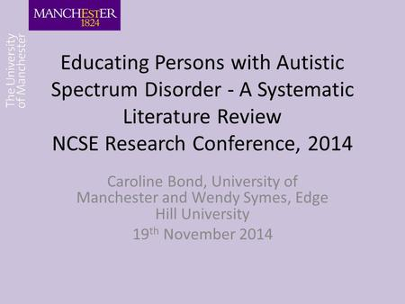 literature review on autism and inclusion