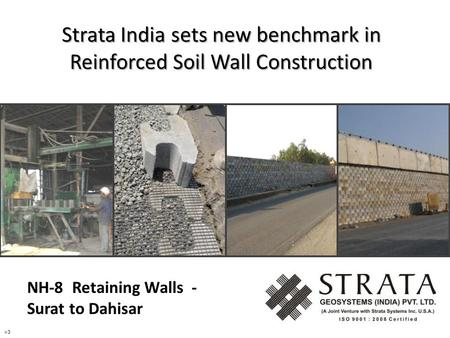 Strata India sets new benchmark in Reinforced Soil Wall Construction v3 NH-8 Retaining Walls - Surat to Dahisar.