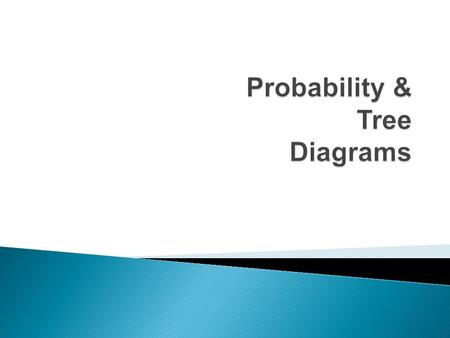  A way of showing the possibilities of two or more events  Simple diagram we use to calculate the probabilities of two or more events.