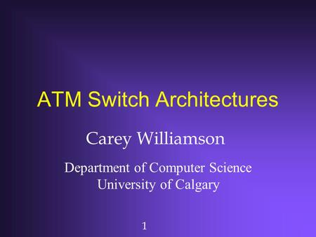 ATM Switch Architectures