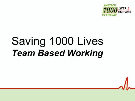 Saving 1000 Lives Team Based Working. Effectiveness of team working Sexton / Thomas / Helmreich – Uni. Of Texas – BMJ v320, 18/3/2000.