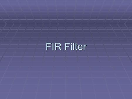 FIR Filter. C-Implementation (FIR filter) #include #include #include coeff_ccs_16int.h int in_buffer[300]; int out_buffer[300]; #define TRUE 1 /*Function.