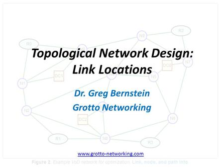 B Topological Network Design: Link Locations Dr. Greg Bernstein Grotto Networking www.grotto-networking.com.