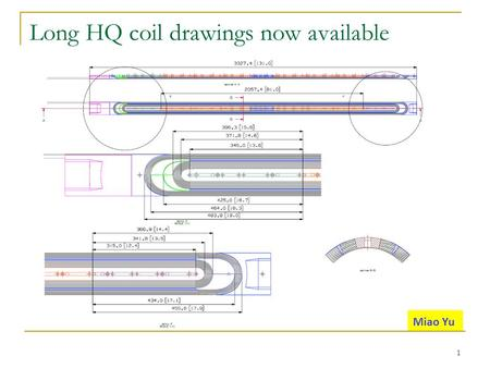Long HQ coil drawings now available 1 Miao Yu. Dead voltage taps in TQ/LQ/HQ coils Inner layer: 24, outer layer: 12 (33 inner/23 outer per coil for TQ/LQ/HQ)