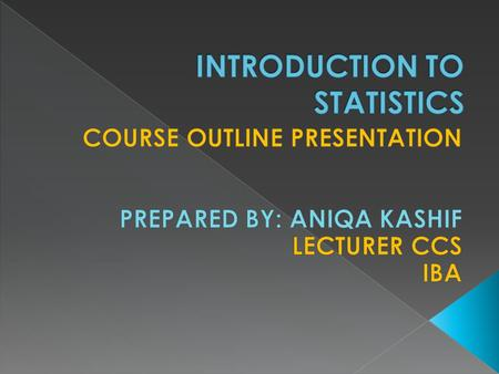  The course content includes: types of data, frequency distributions, measures of central tendency and dispersion, exploratory data analysis, introduction.