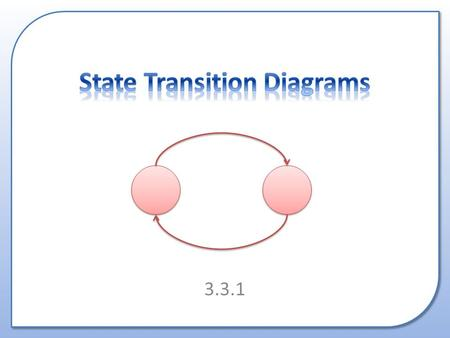 3.3.1. What is a State Transition Diagram? Why are they used? How to draw them.