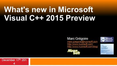 What's new in Microsoft Visual C Preview