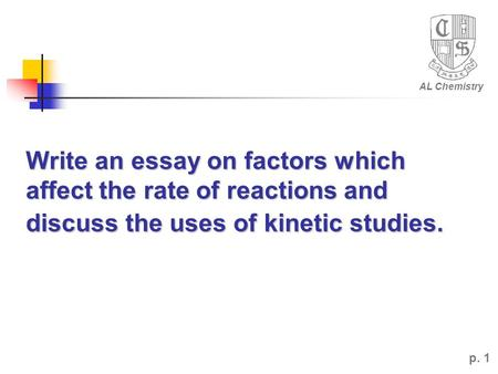 faculty reactions essay Organic chemistry - chemistry has been called the science of what things are its intent is the exploration of the nature of the materials that fabricate our physical environment, why they hold the different properties that depict them, how their atomic structure may be fathomed, and how they may be manipulated and changed.