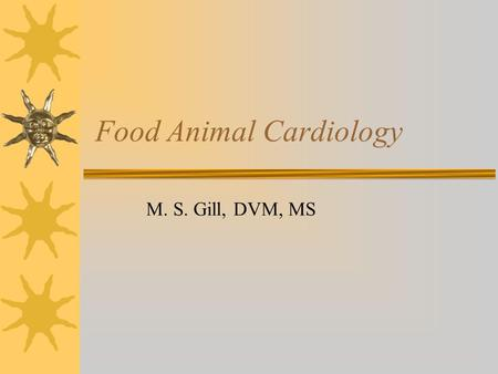 Food Animal Cardiology