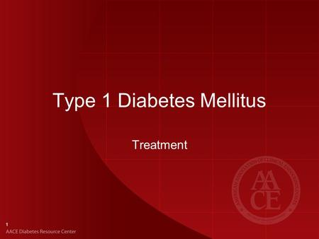 1 Type 1 Diabetes Mellitus Treatment. 2 Goals of T1DM Management Utilize intensive therapy aimed at near-normal BG and A1C levels Prevent diabetic ketoacidosis.