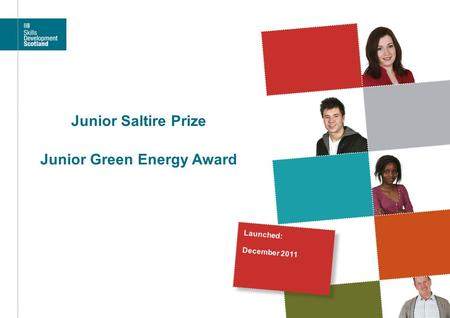 Junior Saltire Prize Junior Green Energy Award Launched: December 2011.