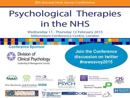 Conference Sponsor Join the Conference discussion on twitter #newsavoy2015.