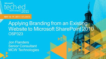 Learn the techniques to create a SharePoint 2010 web site from an existing branded web site.