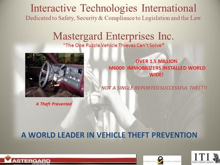 "Interactive Technologies International Dedicated to Safety, Security & Compliance to Legislation and the Law Mastergard Enterprises Inc. ""The One Puzzle."