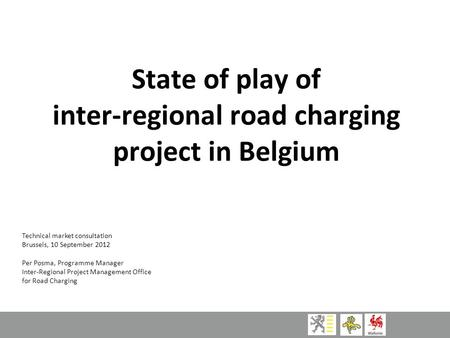inter-regional road charging project in Belgium