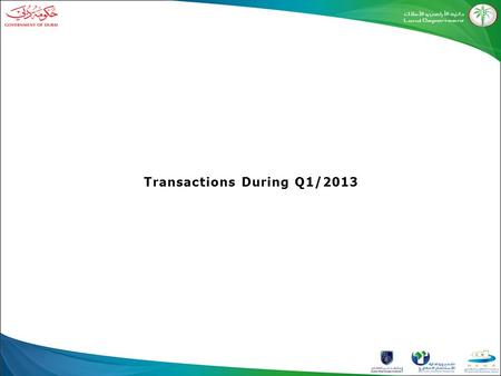 Transactions During Q1/2013. Total Transactions During Q1-2013 Values Number of Procedures 24,13610,913 Sales 17,7882,616 Mortgage 2,206731 Other 44,13114,260.
