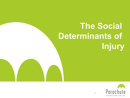 The Social Determinants of Injury 1. This presentation was developed into a workshop format by the Atlantic Collaborative on Injury Prevention for Understanding.