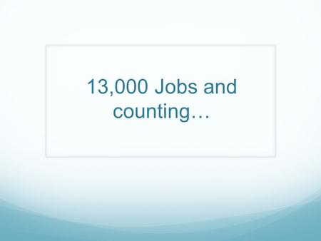 13,000 Jobs and counting…. Advertising and Data Platform Our System.