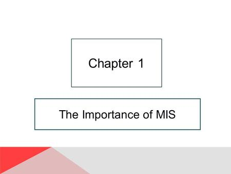 "The Importance of MIS Chapter 1. 1-2 But Today, They're Not Enough."" Copyright © 2014 Pearson Education, Inc. Publishing As Prentice Hall Reliability,"