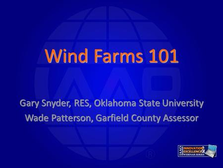 Wind Farms 101 Gary Snyder, RES, Oklahoma State University