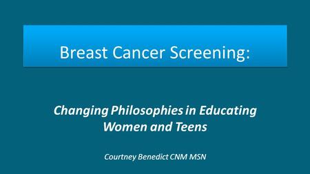 Breast Cancer Screening: