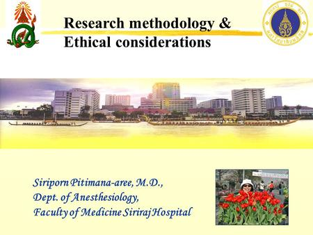 Research methodology & Ethical considerations