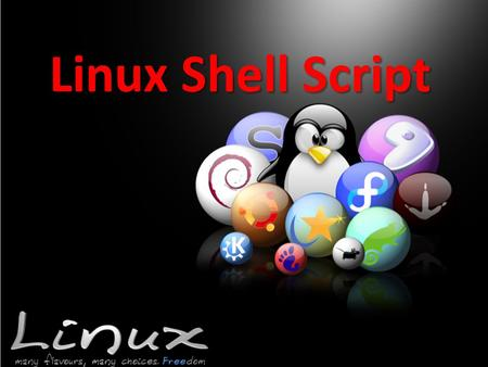 "Linux Shell Script. Shell script The first line is used to specify shell program #!/bin/sh Variables variable=""text"" variable=0 variable=`program arguments`"