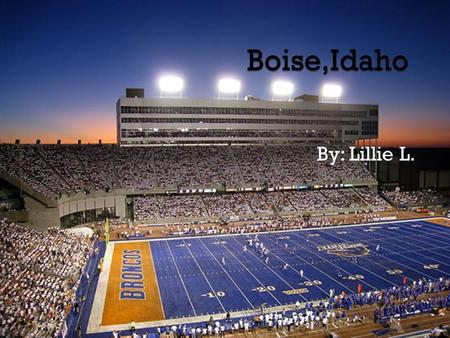 By: Lillie L..  You could go and see the Bronco Stadium. They have blue turf there!  You could also go see the Arrowrock Dam and Reservoir if you like.