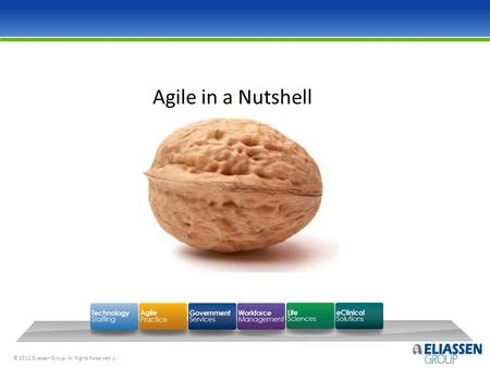 © 2012 Eliassen Group. All Rights Reserved -1- Agile in a Nutshell.